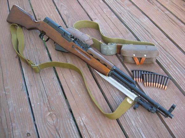 карабин Симонова (СКС 45) с клинковым штыком 07