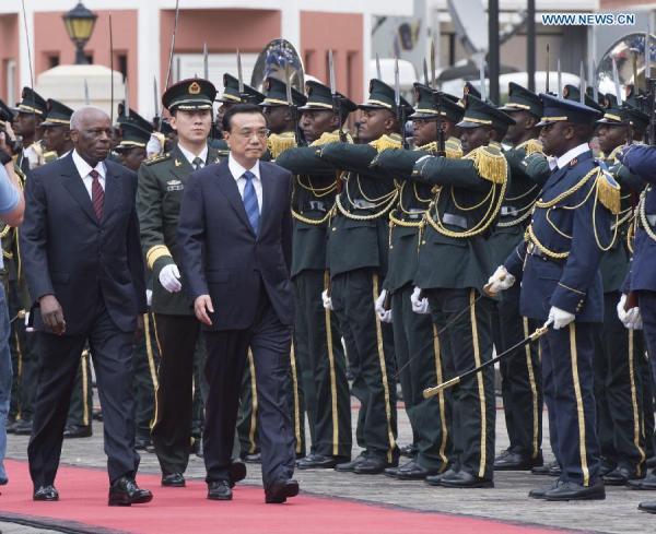 Angolan honor guard