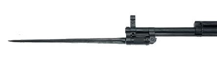 карабин Симонова (СКС 45) с игольчатым штыком в боевом положении 02