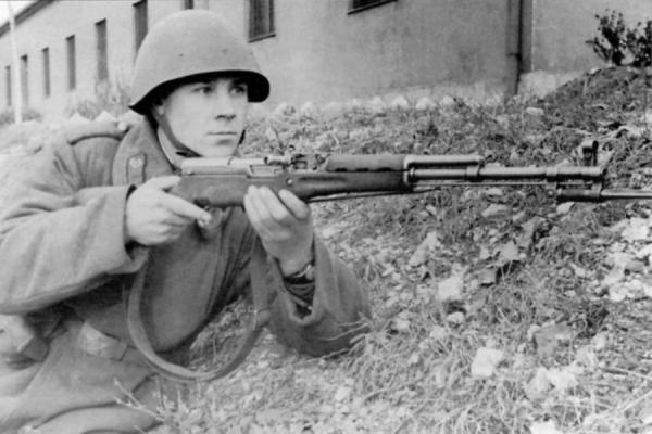 солдат с карабином СКС (Будапешт, 1956 год) 01