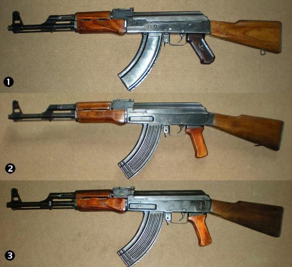 Калашникова АК трёх типов 01