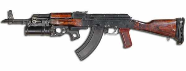 Калашникова модернизированный (АКМ) с подствольным гранатомётом ГП 25 (02)