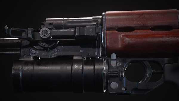 40 мм подствольный гранатомёт ГП 25 Костёр на АКМ (01)