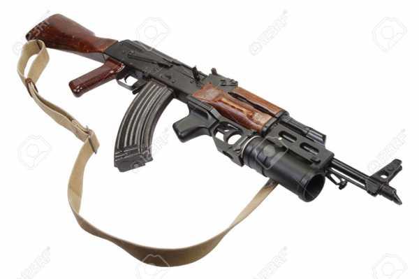 Калашникова модернизированный (АКМ) с подствольным гранатомётом ГП 25 (04)