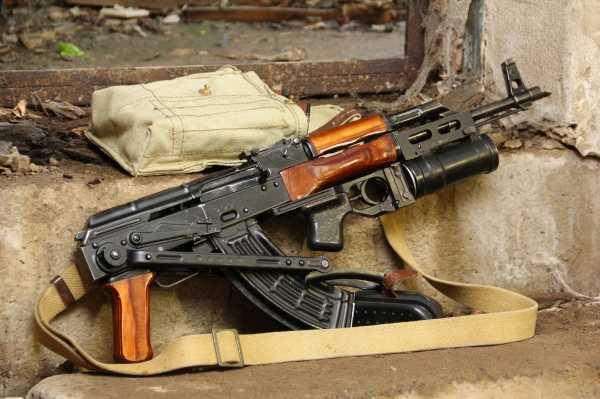 Калашникова АКМС с ГП 25 Костёр 01