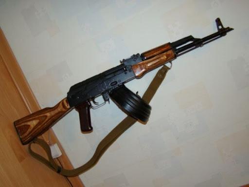 АКМ с магазином на 75 патронов от РПК (01)