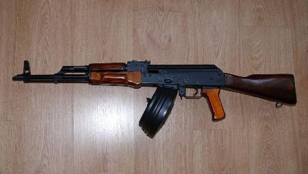 АКМ с магазином на 75 патронов от РПК (03)