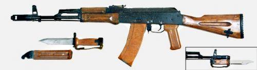 АК 74 первых годов выпуска (с деревянным прикладом, деревянными цевьём и накладкой на газовую трубку) 01