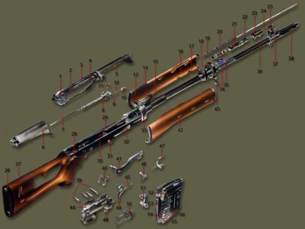 винтовка Драгунова (СВД). Устройство 02