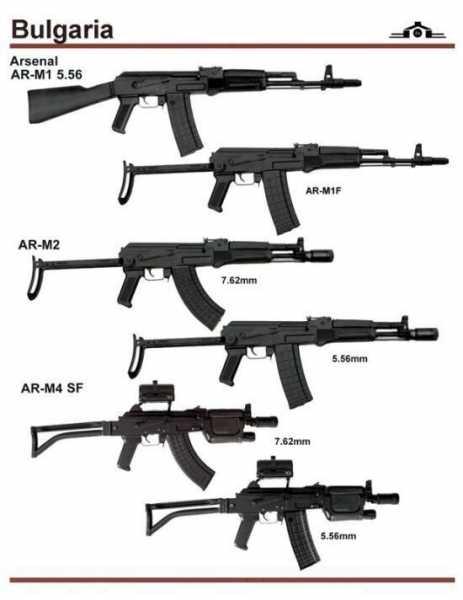 варианты автомата Калашникова на базе AR M1 (02)