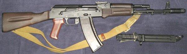АК 74 и штык нож 6Х5 (02)