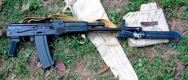 АК 74М с примкнутым штык ножом 6Х5 (02)
