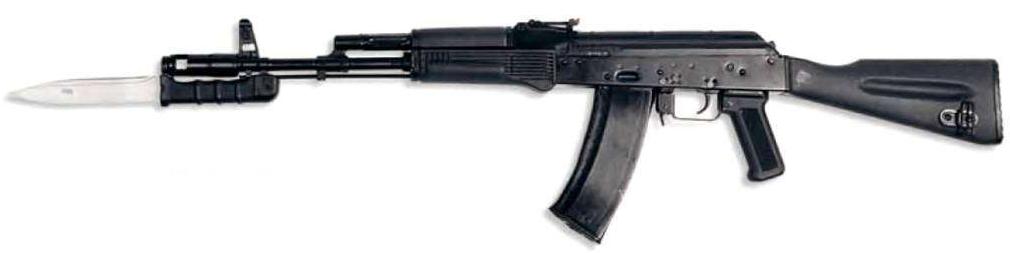 АК 74М с примкнутым штык ножом 6Х5 (03)