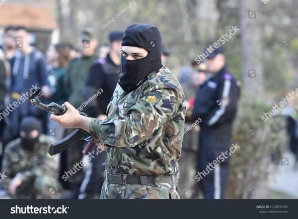 stock photo veliko tarnovo veliko tarnovo bulgaria bulgarian soldiers makes performance of army 1628637535
