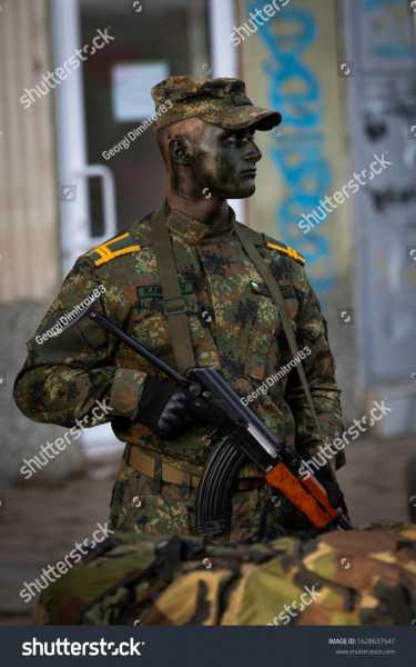 stock photo veliko tarnovo veliko tarnovo bulgaria bulgarian soldiers makes performance of army 1628637547