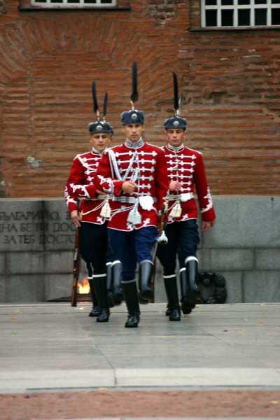 Bulgarian National Guard at the Eternal Flame