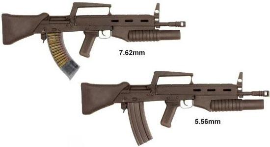 карабины Бакалова (ШКБ) в калибрах 7,62 и 5,56 мм (01)