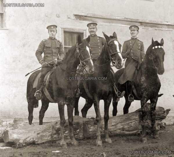 Кавалеристи в гр. Ямбол, 6 декември 1909 г.