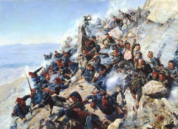 """на """"Орлово гнездо"""" на 12 август 1877 г., художник Алексей Попов"""