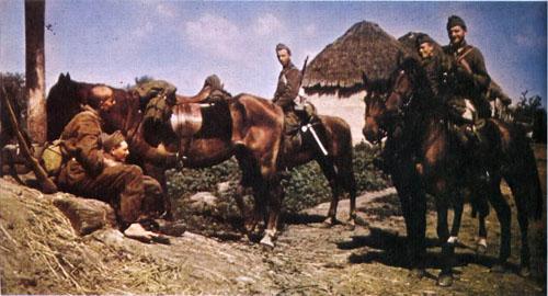 Румынская кавалерия в Бессарабии