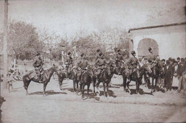 донских казаков перед резиденцией императора в Плоешти, июнь 1877