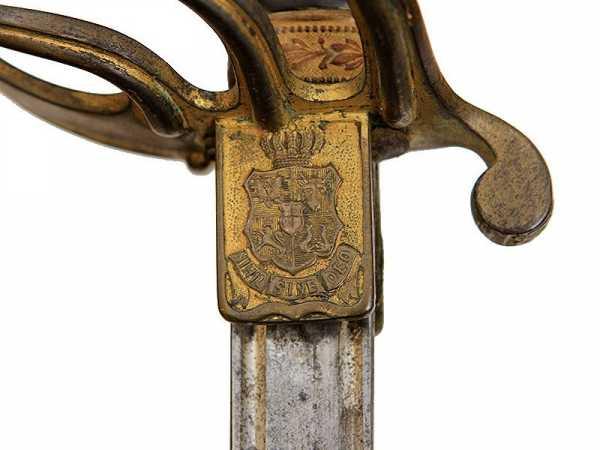 Сабля румынская кавалерийская офицерская обр. 1893 (возможно 1893 1909) года 08
