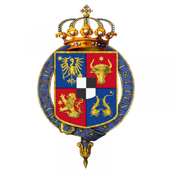 Герб Кароля с добавлением символов Добруджи и Олтении