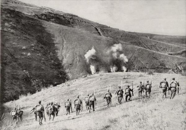 пехота в атака, Македонският фронт. ПМВ