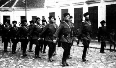 Гвардейской сотни 1 го Казачьего полка (кубанцы и терцы) Русского Корпуса. Лозница, 1942 г.