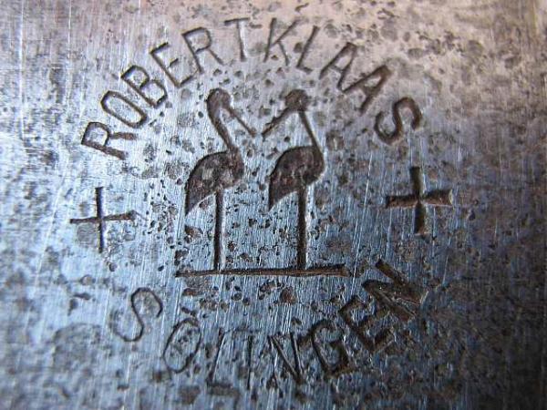 52 Клеймо компании Robert Klaas на ноже Бранник