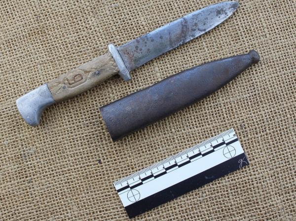 Bulgarian self made Brannik knife using German bayont parts