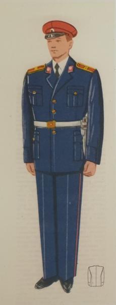 парадная форма для курсантов с ножом обр. 1953 года. БНА
