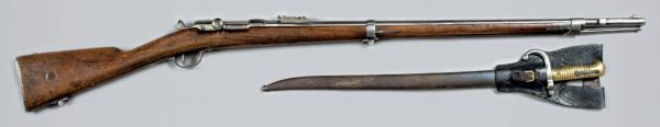 Шасспо обр. 1866 года (Fusil modèle 1866) и штык к ней 01