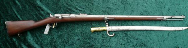 Шасспо обр. 1866 года (Fusil modèle 1866) и штык к ней 04