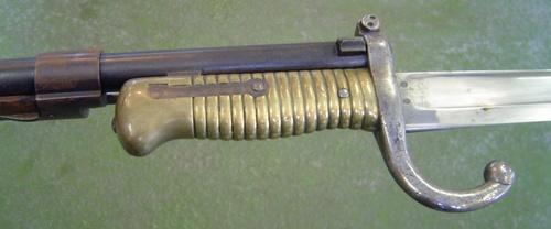 22 Винтовка Шасспо обр. 1866 года (Fusil modèle 1866) с примкнутым штыком 22