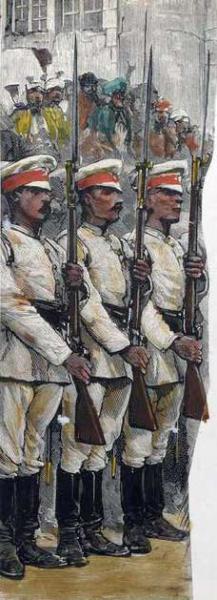 военнослужащие вероятно с винтовками Шасспо (рисунок)