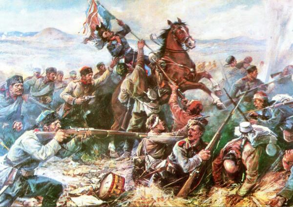 за спасяване на Самарското знаме и смъртта на подполковник Павел Калитин