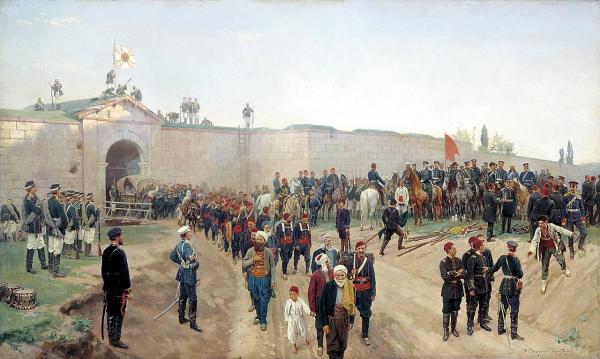 крепости Никополь 4 июля 1877 года