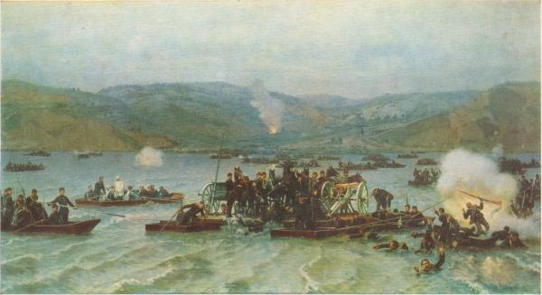 .Д. Дмитриев Оренбургский (1837 1898)   Переправа русских войск через Дунай у Зимницы (Земен) 15 июня 1877 года