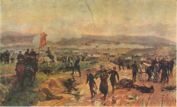 .Д. Дмитриев Оренбургский (1837 1898)   Атака зеленых гор. 1880 е