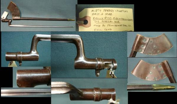 игольчатый штык обр. 1874 года к винтовке Пибоди 01
