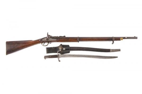 переделочная винтовка Энфилд Снайдер и штык к ней 01