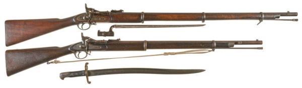 переделочные винтовки Энфилд Снайдер и штыки к ней 01