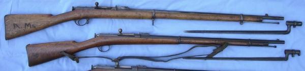 винтовки Бердана № 2 (сверху вниз) пехотная, драгунская, казачья и карабин — копия