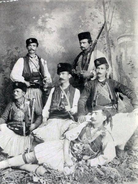 Bulgarian volunteers from Macedonia that fought at the Serbo Bulgarian War (1885)