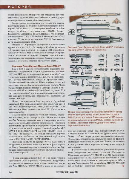 Б. Богдановича Сербский Маузер 09