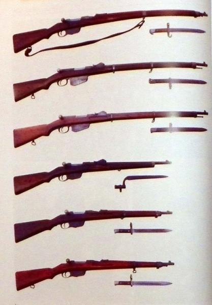 , штуцеры и карабины системы Манлихера и штыки к ним, состоявшие на вооружении в Болгарии 02