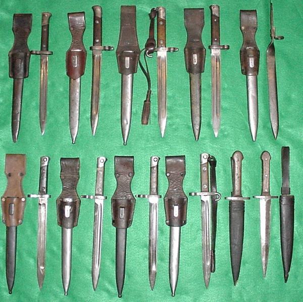 03 Верхний ряд, слева направо. Манлихер М.86, Манлихер М.88, 88 90 & 90 солдатский, Манлихер М.88, 88 90 & 90 подофицерский, Манлихер М.90 , Манлихер М.88, 88 90 & 90 эрзац