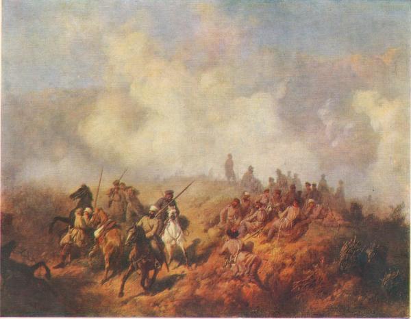 .Д. Кившенко (1851 1895)   Эпизод из Русско Турецкой войны 1877 1878 годов