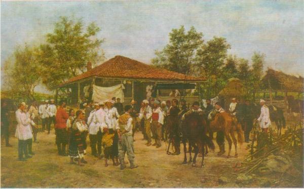 .О. Ковалевский (1843 1903)   Штаб 12 корпуса в Болгарии. 1878